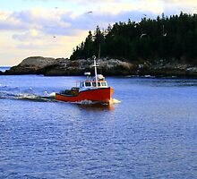 Lobster Boat by HALIFAXPHOTO
