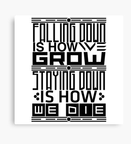Typography - Falling Down Canvas Print