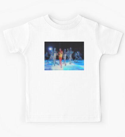 Ten Men, halftime singers, abstract pixel art, Superbowl 2015 Kids Tee