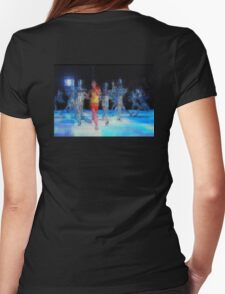 Ten Men, halftime singers, abstract pixel art, Superbowl 2015 Womens Fitted T-Shirt