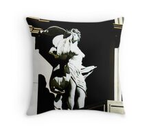 Statue outside 2 Throw Pillow
