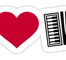 I love Accordion Sticker