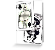 Jack of the Undead Spades Greeting Card