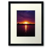 Fall Sunset  Framed Print