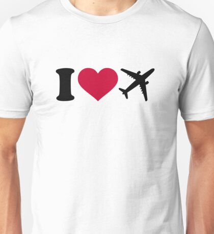 I love airplanes Unisex T-Shirt