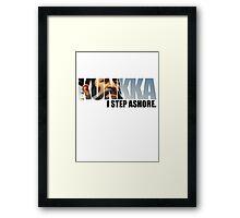 Dota 2 -  Kunkka  Framed Print