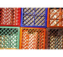 Colorful Crates Photographic Print