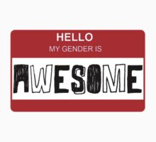 HELLO my gender is - AWESOME (red) by maxasaurusrex