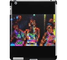 SUPERBOWL beach girls, abstract pixel art, flipped photo iPad Case/Skin