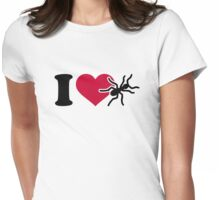 I love ants Womens Fitted T-Shirt