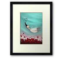 Love is a soft place to fall Framed Print