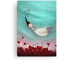 Love is a soft place to fall Canvas Print