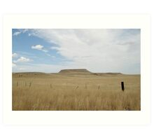 Battle Butte Art Print