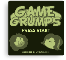 Game Grumps GameBoy Canvas Print