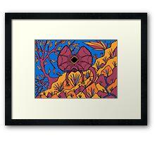Goolaman - (frilled lizard) barrgan season (winter) Framed Print