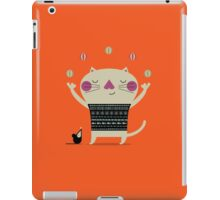Cute Cat Juggling iPad Case/Skin