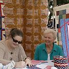 (Local Quilter's Guild) What a beautiful lesson a young mother is teaching her son on Valor! by leih2008