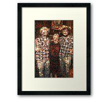 Johnny Kicks, Ebony and Johnny Kicks Framed Print