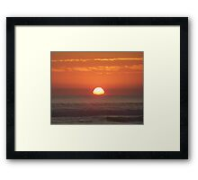 Orange Skies Framed Print
