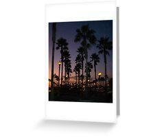 Palm Skies Night Greeting Card