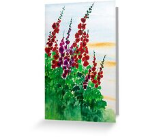 Hollyhocking  Greeting Card