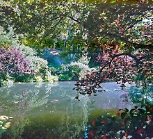 Pool in Sunshine, Butchart Gardens, BC, Canada by Priscilla Turner