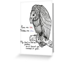 vulture valentine Greeting Card