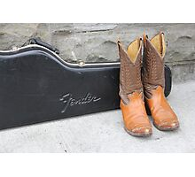 Boots and Guitars  Photographic Print