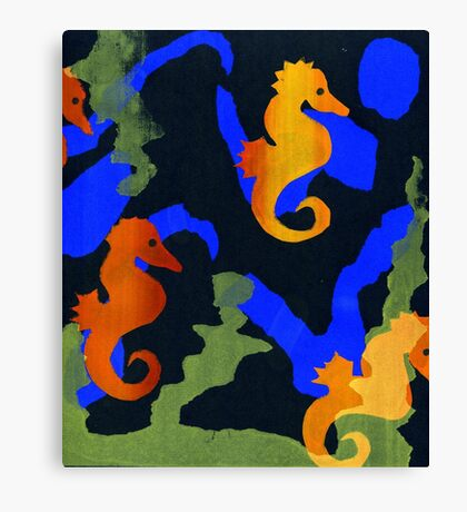 Swimming in tangles of green Canvas Print