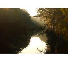 Louisiana Bayou Sunrise Photographic Print