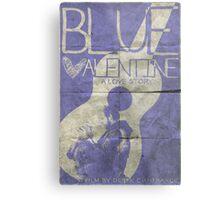 blue valentine minimalist poster Metal Print