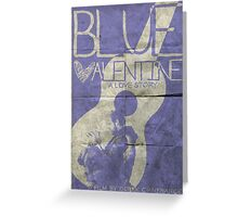 blue valentine minimalist poster Greeting Card