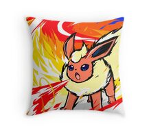 Flareon | Fire Spin Throw Pillow