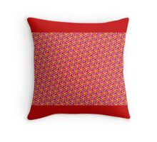 BRIGHT RED FLORAL DECOR & GIFTS Throw Pillow