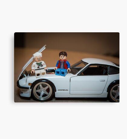Doc and Marty on a Z Canvas Print