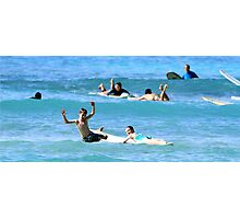 Kids wild wipe out Photographic Print
