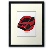 "Mitsubishi Colt Ralliart ""Rising Sun"" Framed Print"