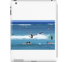 Wiping out surfing iPad Case/Skin