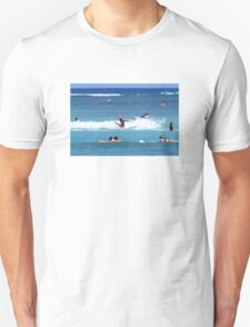 Wiping out surfing Unisex T-Shirt