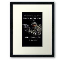 Halo - Thought I'd Try shooting my way out Framed Print