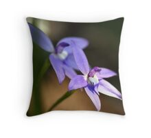 "Waxlip Orchid ""Glossodia Major"" - Narre Warren East, Victoria Throw Pillow"