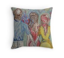 Anticipating Throw Pillow