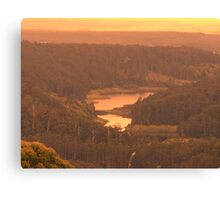 dams hills water Canvas Print