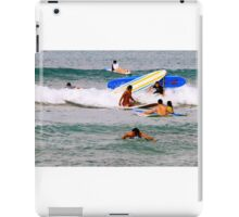 Surf boards crash iPad Case/Skin