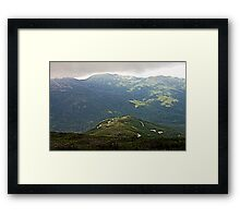 Mountainous Hills Framed Print