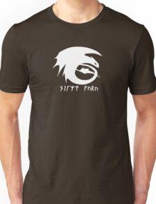 Toothless + Runic Text (white) Unisex T-Shirt