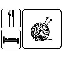 Eat Sleep Knitting Photographic Print