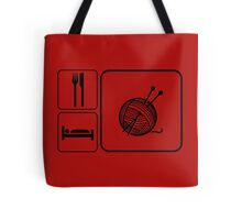 Eat Sleep Knitting Tote Bag
