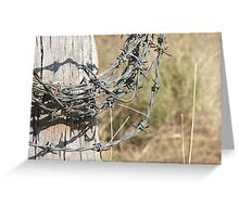 Roll Of Barbed Wire Greeting Card