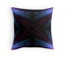 X Factor Fractal Throw Pillow